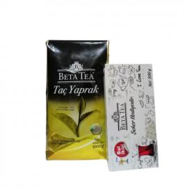 Beta Tea Taç Yaprak Çay 1 Kg (Şeker Hediyeli) 1 Alana 1 Bedava