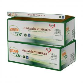 Zeren Organik Yumurta 10'Lu (1 Alana 1 Bedava)