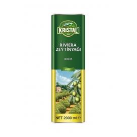 Kristal Riviera Zeytinyağı 2 Lt Teneke